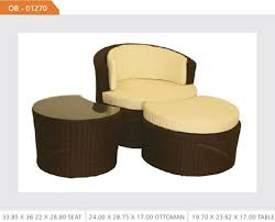 Patio Chair And Ottoman Set Outdoor Wicker Chair And Ottoman Set Outdoor Wicker Furniture Set