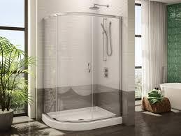48 Inch Glass Shower Door Fleurco S Half Three Frameless Curved Glass Sliding Shower