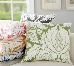 damask print pillow cover pottery barn