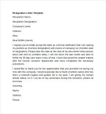 sample resignation letter resignation letter sample 19