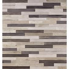 Nuvelle Laminate Flooring Nuvelle Decowall Gray 1 4 In T X 5 In W X Varying Length Peel