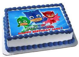 edible cake images pj masks edible cake topper pj masks edible cupcake toppers
