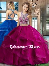 fuchsia quinceanera dresses beautiful two brush fuchsia quinceanera dress with criss