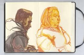 sketches of strangers and other strange sketches on risd portfolios