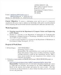 sample resume for computer science student fresher resume guide