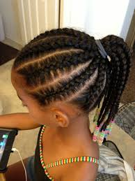 hair braided into pony tail cutest braids for kids ponytail