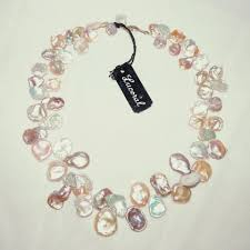 bead necklace pink images Multicolor 14k gold cultured blister keshi pearl bead cream peach jpg