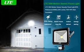 led motion sensor flood light lte 30w led security light outdoor