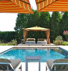 new york pool cabana ideas eclectic with chaise lounge fabric
