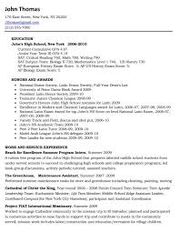 college resume exles high school resume exles for college listmachinepro