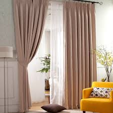 light brown modern and thermal insulating curtains