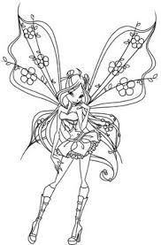 fairies print color winx club coloring pages winxclub