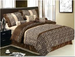 Leopard Bed Set Leopard Print Comforter Set Animal Sets Cheetah Walmart
