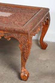 hand carved coffee table anglo indonesian hand carved coffee table