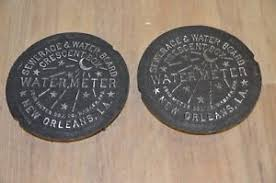 water meter new orleans qty 2 new orleans water meter cover crescent city nola