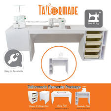 tailormade sewing cabinets nz elements desk drawers storage overlocker table