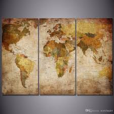 World Map Framed 2018 Hd Printed Vintage World Map Painting Canvas Print Room Decor