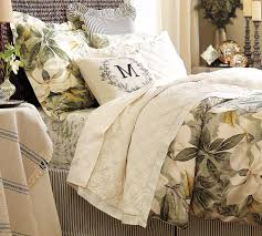 bedroom cool white pillows design with pottery barn bedding also