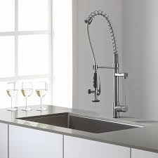 Watermark Kitchen Faucets Kraus Kpf 1602 Single Lever Pull Out Kitchen Faucet Chrome