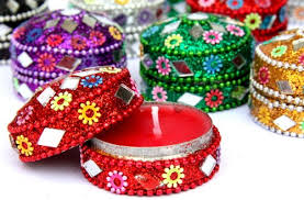 indian party wedding favors set of 12 scented candles in mix of