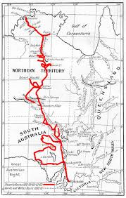 Red Line Map A Map Of Australia Comparing The Route Of The Burke And Wills