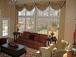 burgundy living room curtains bookshelves wall mounted behind