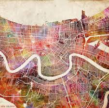 Maps New Orleans by New Orleans Map Painting Painting By Map Map Maps