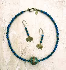 long boho necklace images Blue gold tibetan necklace chrysocolla necklace long boho JPG