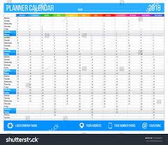 2018 year calendar planner english 12 stock vector 775043467