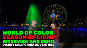 world of color season of light world of color season of light interview and demonstration at