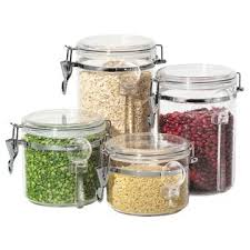 oggi kitchen canisters 4 acrylic canister set