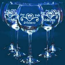 personalize wedding gifts engraved balloon wine glasses personalized wedding gifts