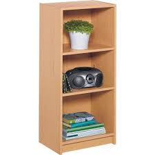 maine half width small extra deep bookcase beech effect amazon