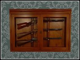 in wall gun cabinet second life marketplace re rifle wall case one prim hanging