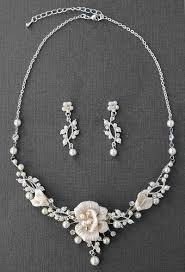 pearl bridal necklace images Porcelain flower and pearl bridal jewelry necklace cassandra lynne jpg