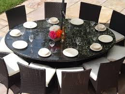 6 Person Patio Dining Set - rattan garden furniture oval table and 10 chairs patio dining set