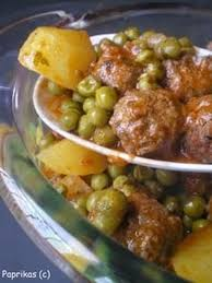 cuisiner les petits pois recette de mijoté de boulettes aux petits pois la recette facile