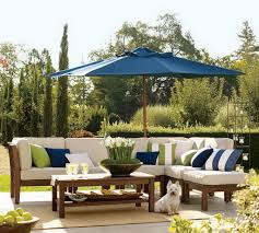 Blue And White Patio Umbrella Outdoor And Patio Modern Outdoor Umbrella In Blue With