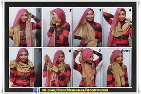 tutorial hijab turban ala april jasmine cara memakai jilbab pasmina modern ala april jasmine cara memakai