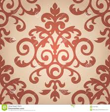 damask floral pattern the wallpaper in baroque stock vector