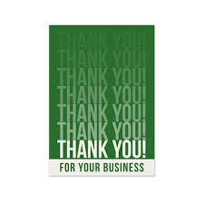 business thank you card on the ball promotions business
