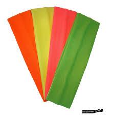 stretch headbands cotton stretch headbands neon 4 pack