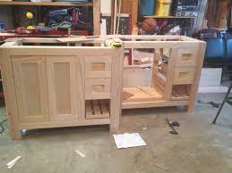 Diy Bathroom Vanity Cabinet Building A Bathroom Vanity Cabinet Genwitch