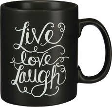 live love laugh chalk mug compass rose