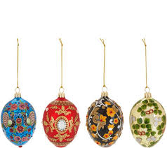 joan rivers 2017 set of 4 russian inspired egg ornaments page 1