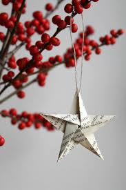 adore origami star christmas ornament set made of vintage book