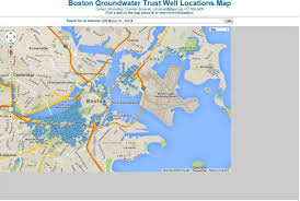 Data Map Well Map Page Boston Groundwater Trust