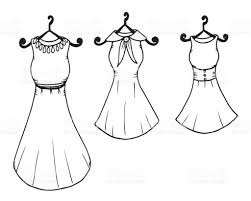 sketches of dresses illustration dress painted image clothing