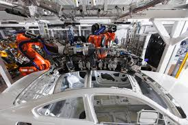 bmw factory assembly line bmw m4 coupe production has started this is the first one for sale