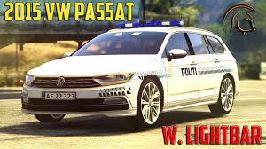 volkswagen passat r line 2015 volkswagen passat r line danish police lightbar gta5